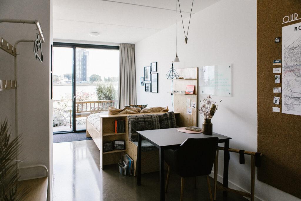 Interieur van bed en breakfast Maasview in rotterdam